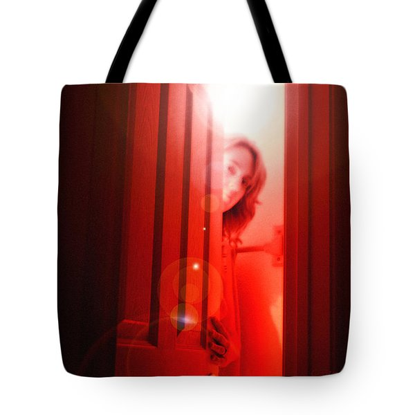 Red Unfocused Tote Bag