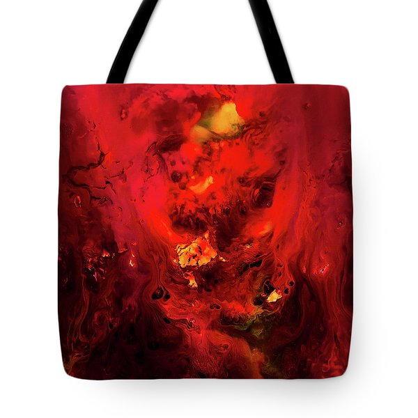 Red Universe Tote Bag