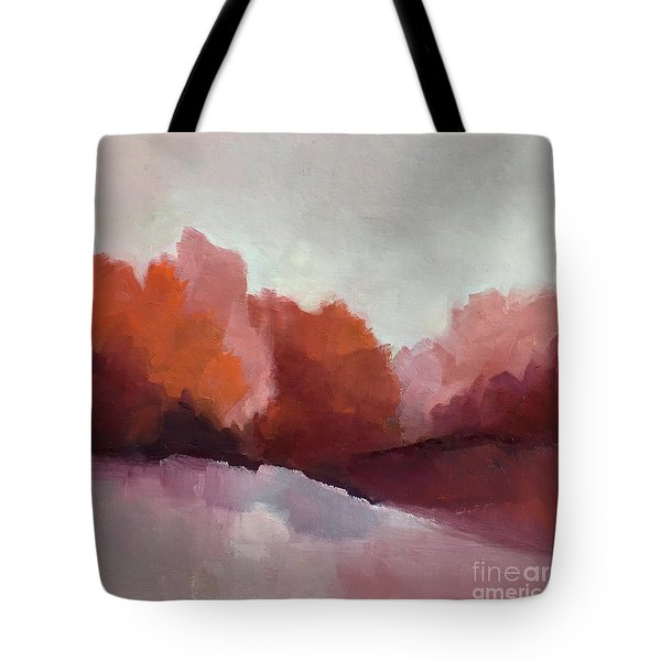 Tote Bag featuring the painting Red Valley by Michelle Abrams