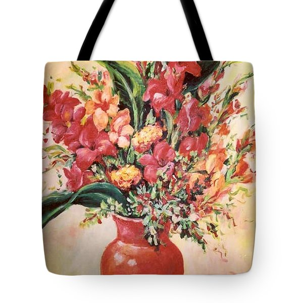 Red Vase Tote Bag by Alexandra Maria Ethlyn Cheshire