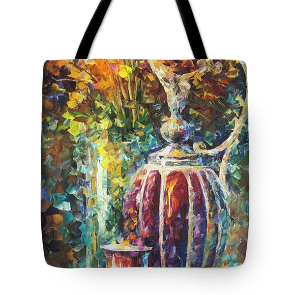 Red Vase Tote Bag by Leonid Afremov