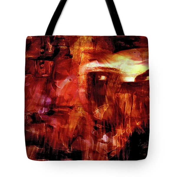 Tote Bag featuring the photograph Red Veil by Linda Sannuti