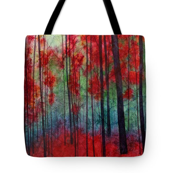 Tote Bag featuring the painting Red Velvet by Hailey E Herrera