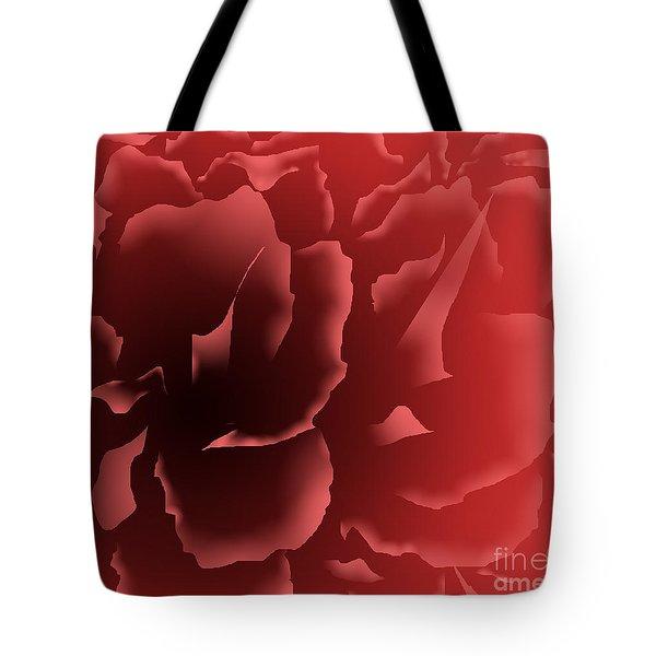 Red Velvet Peony Tote Bag