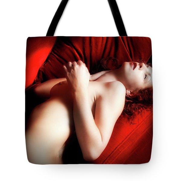 Red Velvet Seduction Tote Bag