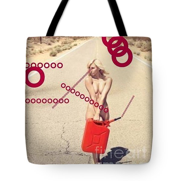 Red Vision Tote Bag by Steven Macanka