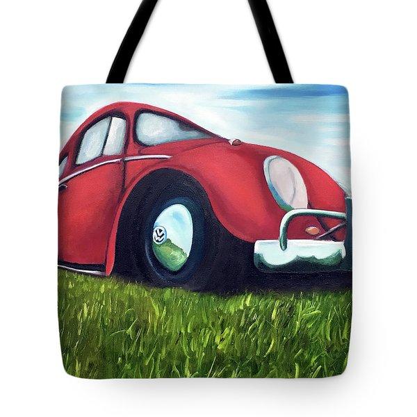 Red Vw Tote Bag