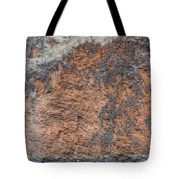 Tote Bag featuring the photograph Red Wall Raft by Britt Runyon