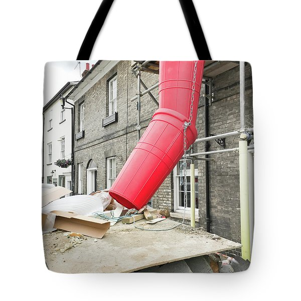 Red Waste Chute Tote Bag