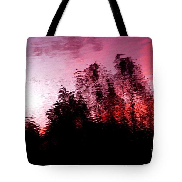 Red Waters Tote Bag