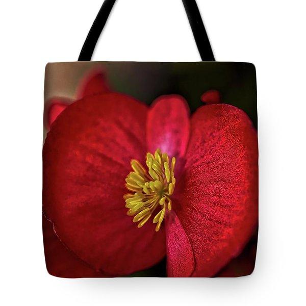 Red Wax Begonia Tote Bag
