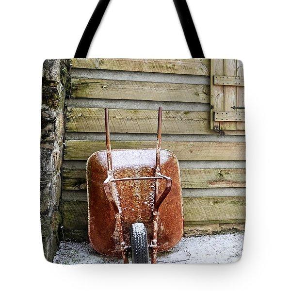 Red Wheelbarrow Tote Bag