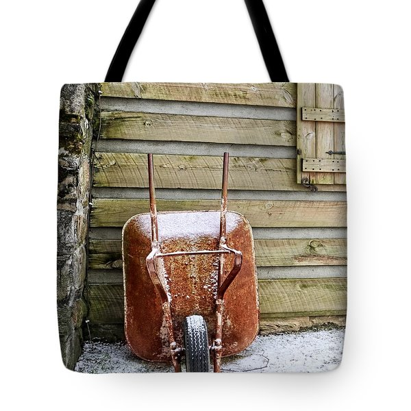 Red Wheelbarrow Tote Bag