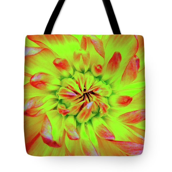 Red Whirl Tote Bag