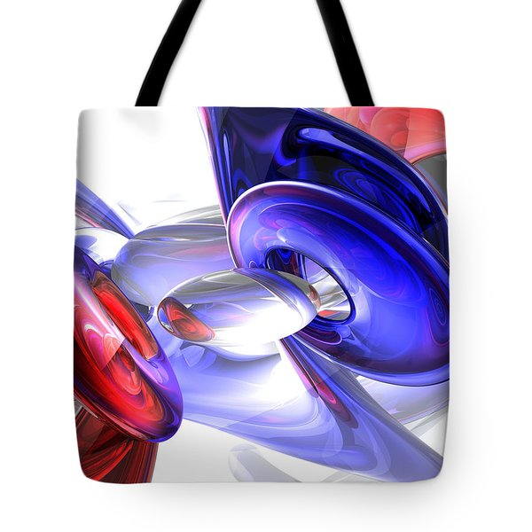 Red White And Blue Abstract Tote Bag by Alexander Butler