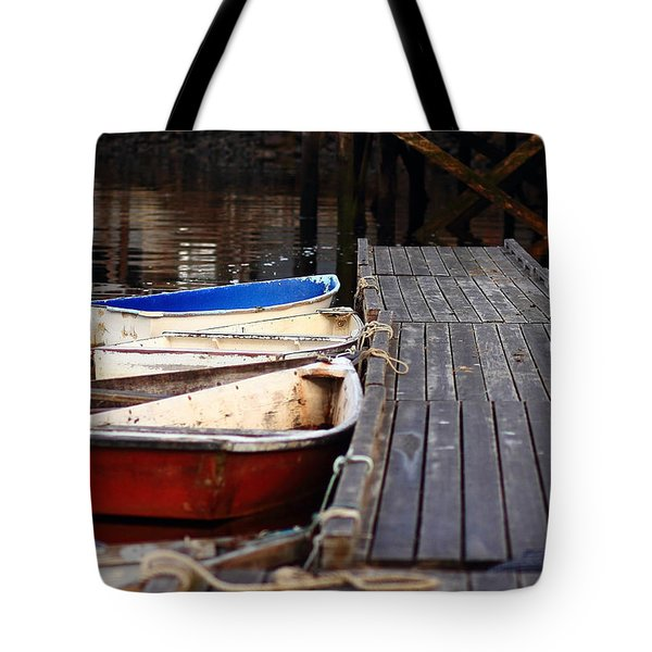 Red, White, And Blue Dingys Tote Bag