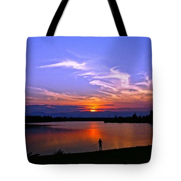 Tote Bag featuring the photograph Red, White And Blue by Eric Dee