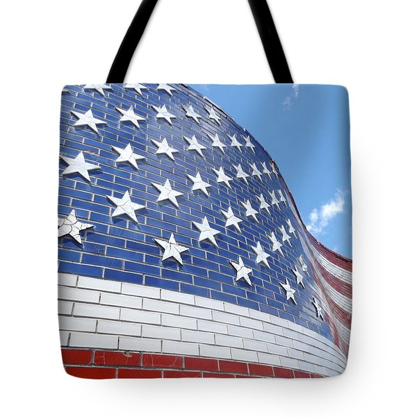 Red White And Blue Tote Bag by Erick Schmidt