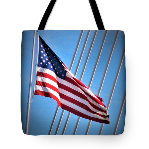 Red, White And Blue Tote Bag by Martin Cline