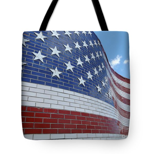 Red White And Brick Tote Bag by Erick Schmidt