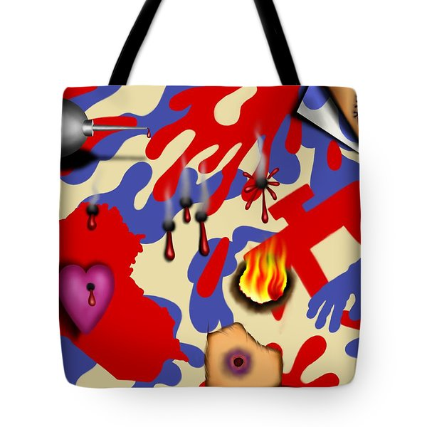 Red White And Bruised II Tote Bag
