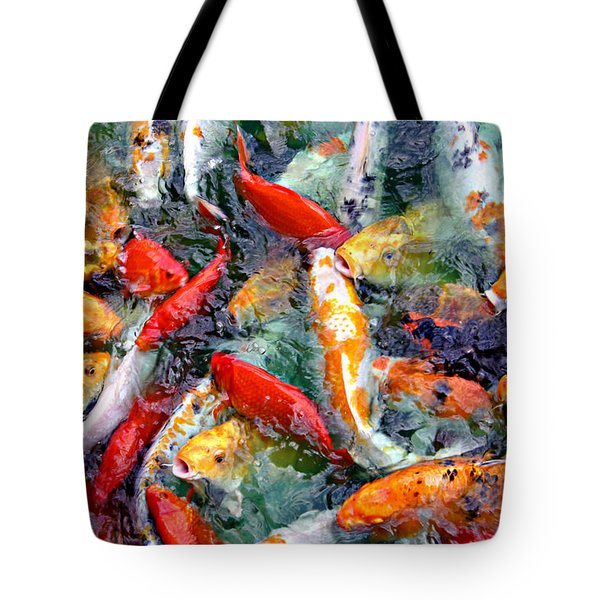 Red White And Gold Tote Bag