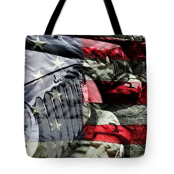 Red White And Jeep Tote Bag