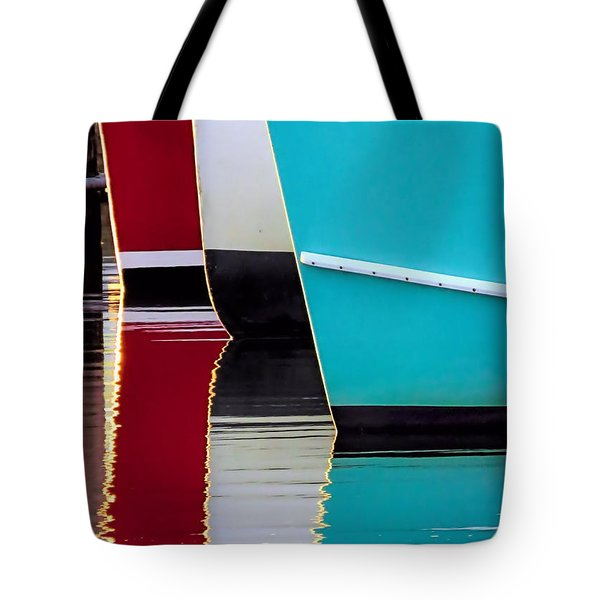 Red White Blue Reflections Tote Bag by Janice Drew