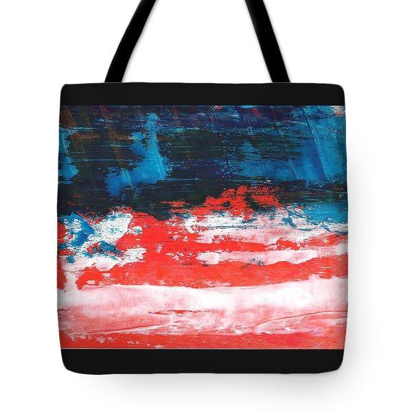 Red White Blue Scene Tote Bag