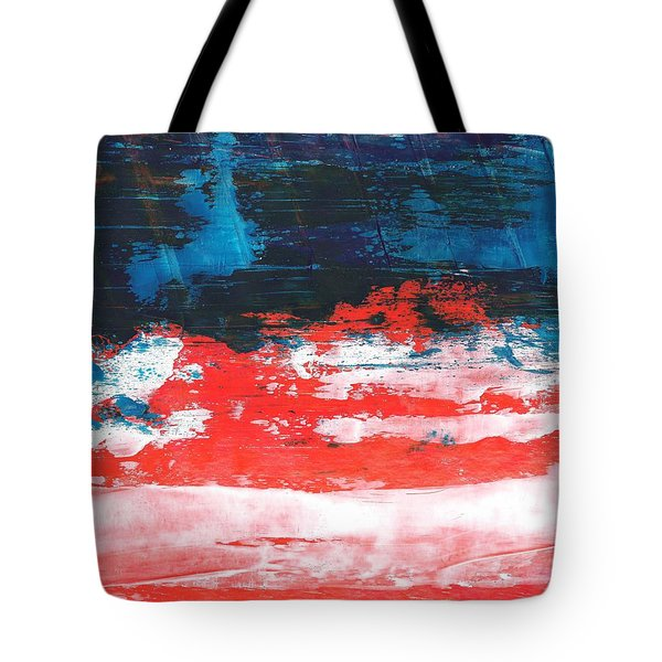 Red White Blue Scene Tote Bag