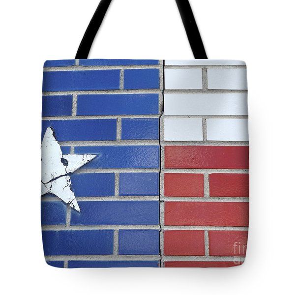 Red White Blue With Star Tote Bag by Erick Schmidt
