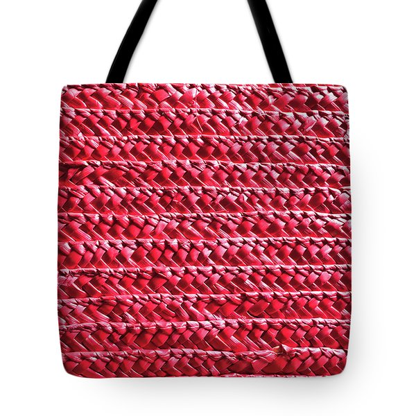 Red Wicker Tote Bag