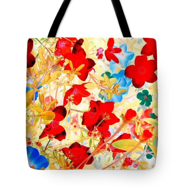 Tote Bag featuring the photograph Red Wild Flowers by Marianne Dow