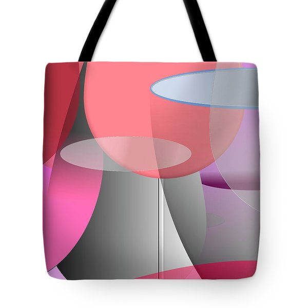 Red Wine Abstract Tote Bag