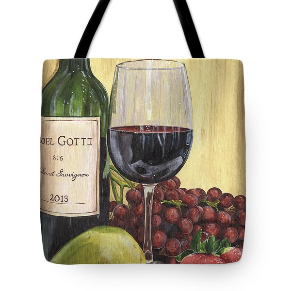 Red Wine And Pear 2 Tote Bag by Debbie DeWitt