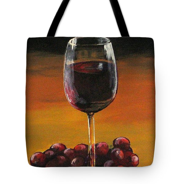 Red Wine And Red Grapes Tote Bag
