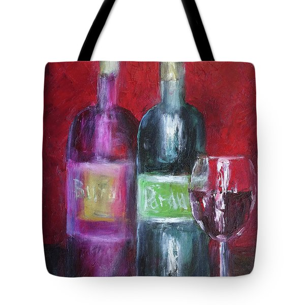 Red Wine Art Tote Bag