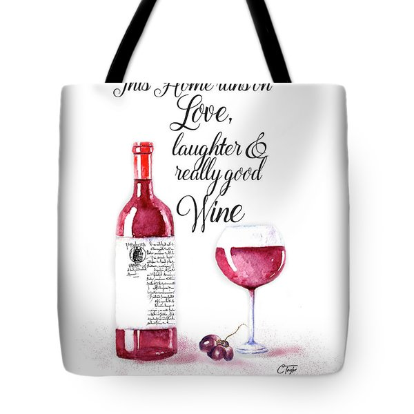 Tote Bag featuring the digital art Red Wine by Colleen Taylor