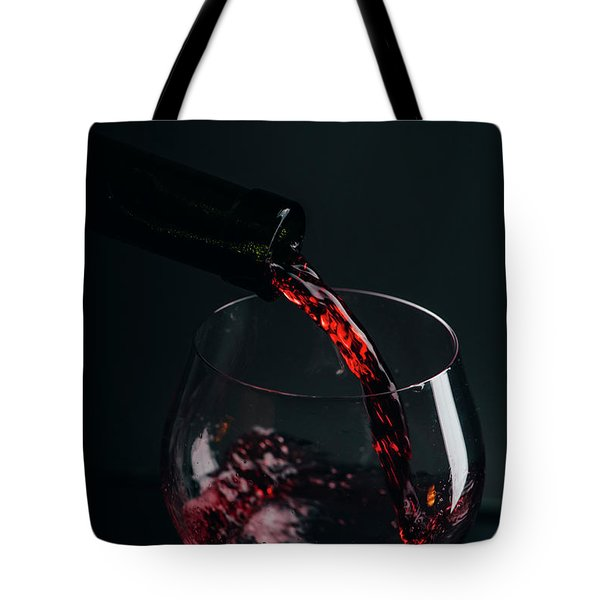 Red Wine Pouring Tote Bag