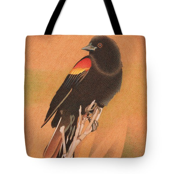 Red-winged Blackbird 3 Tote Bag