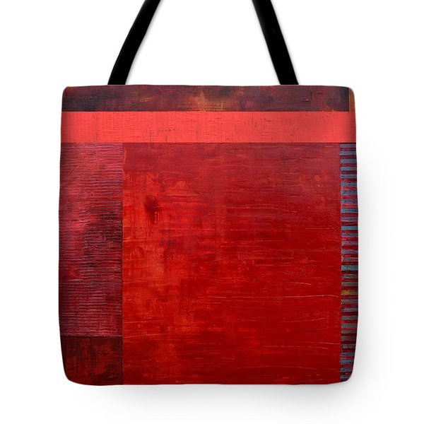 Red With Orange Tote Bag