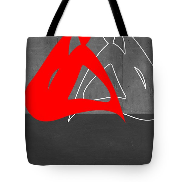 Red Woman Tote Bag