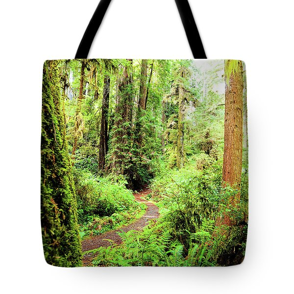 Red Woods Trail Tote Bag