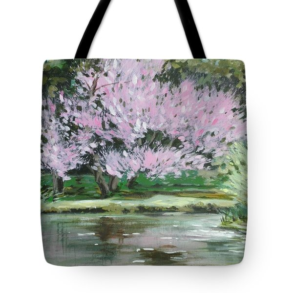 Redbud Reflections Tote Bag