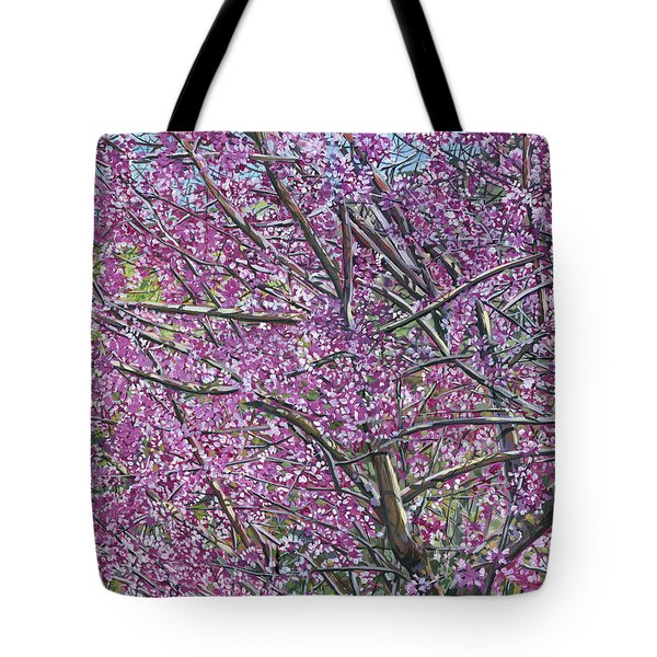 Redbud Tree Tote Bag by Nadi Spencer