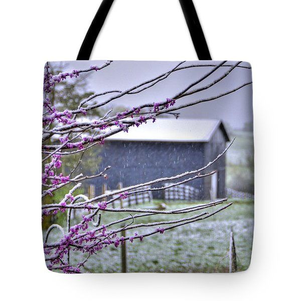 Redbud Winter Tote Bag
