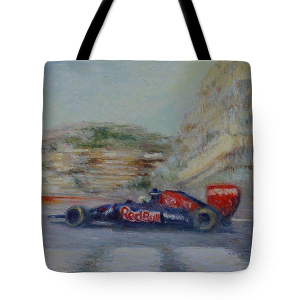 Redbull Racing Car Monaco  Tote Bag