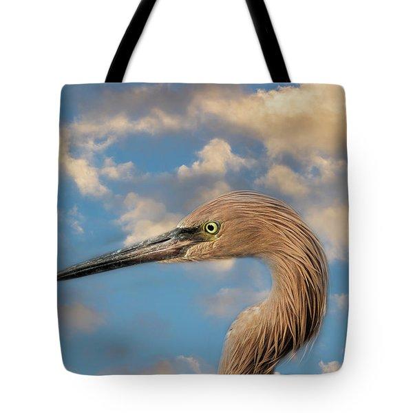 Tote Bag featuring the photograph Reddish Egret by Kim Hojnacki