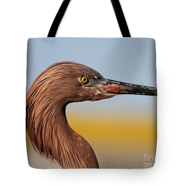 Reddish Egret Portrait Tote Bag
