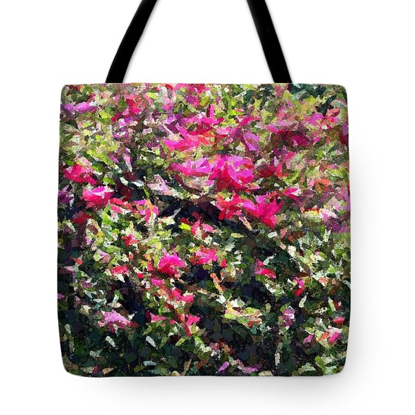 Tote Bag featuring the photograph Reddish Pink Crackled Flowers by Ellen O'Reilly